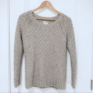 LA Hearts Knit Sweater | Taupe Long Sleeve Sweater